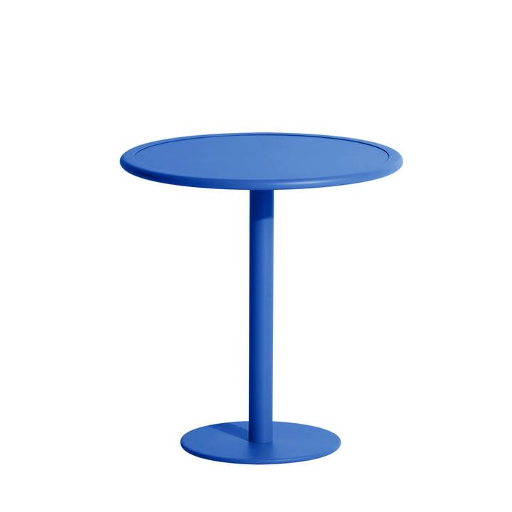Der Week-End Bistrotisch Outdoor von Petite Friture, Ø 70 cm, blau