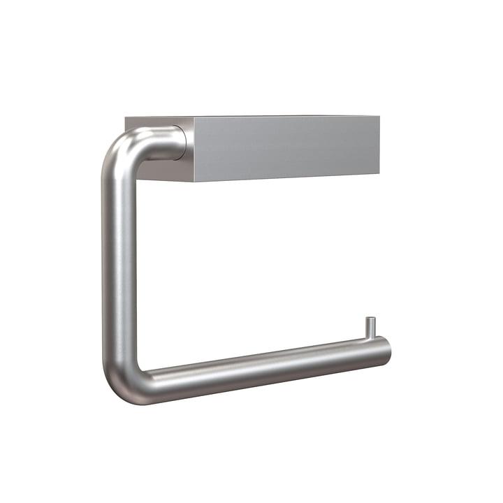 Der Quadra WC-Rollenhalter 3 von Frost, Aluminium gebürstet