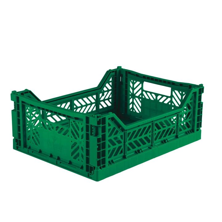Faltkiste Midi 40 x 30 cm von Aykasa in dark green