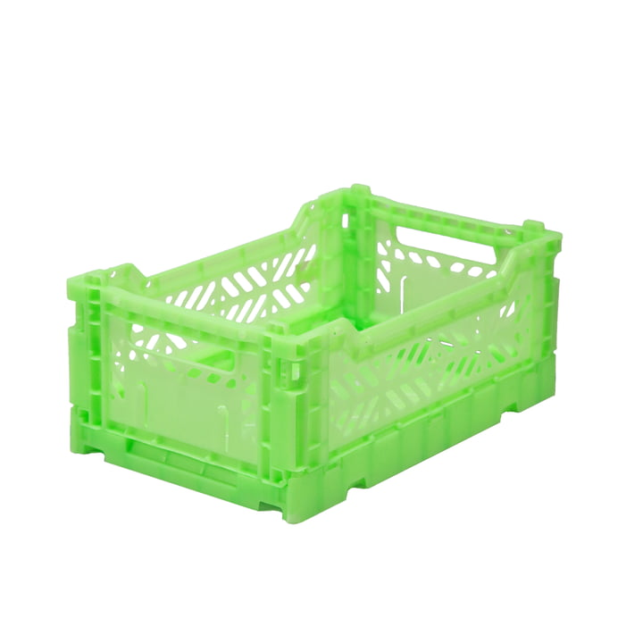 Faltkiste Mini 27 x 17 cm von Aykasa in fluorescent green