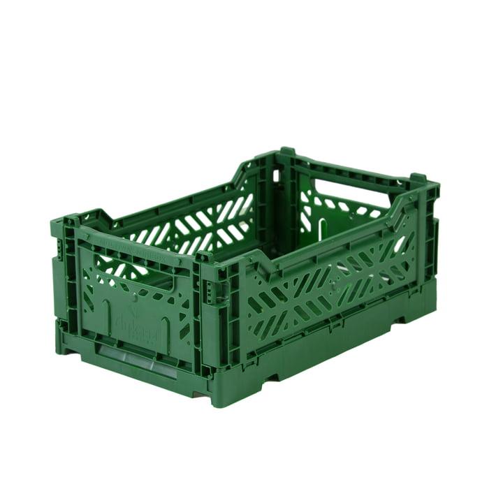 Faltkiste Mini 27 x 17 cm von Aykasa in dark green