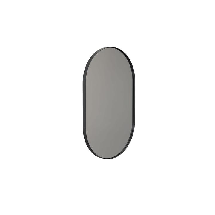 Der Unu Wandspiegel 4138 von Frost, mit Rahmen oval, 50 x 80 cm, schwarz