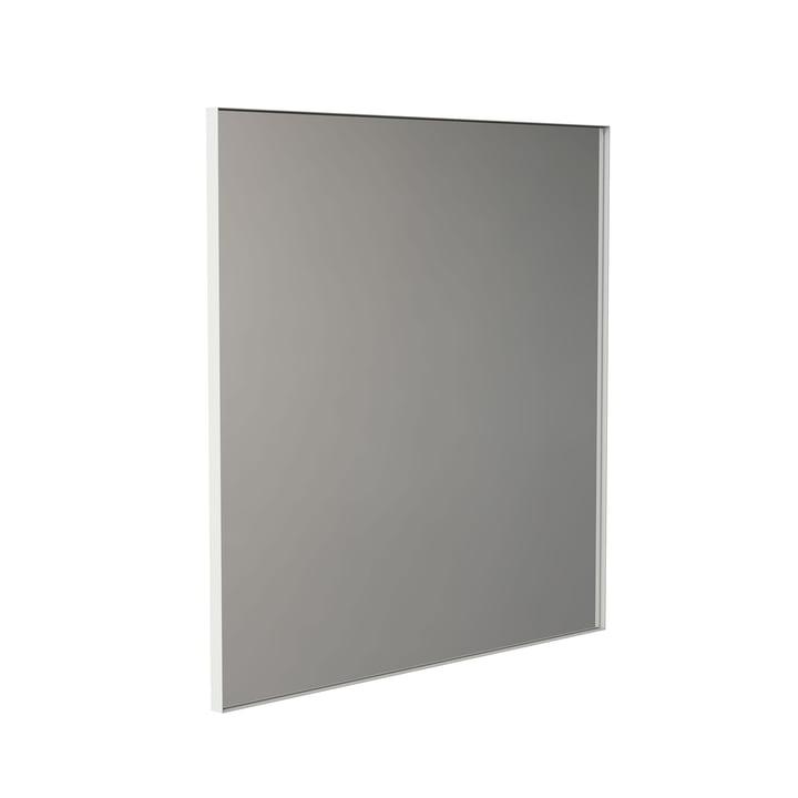 Der Unu Wandspiegel 4143 mit Rahmen von Frost, 100 x 100 cm, weiß