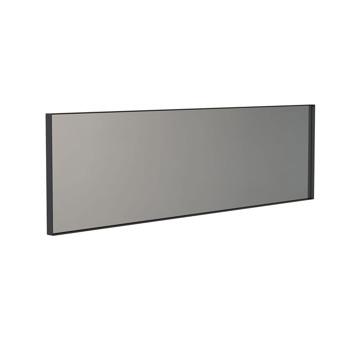 Der Unu Wandspiegel 4137 mit Rahmen von Frost, 40 x 140 cm, schwarz