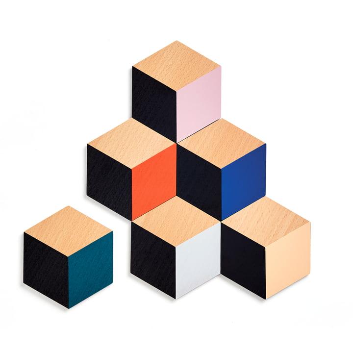 Table Tiles Optic Untersetzer 6er-Set von Areaware in multicolor