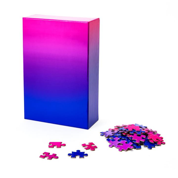 Farbverlauf Puzzle von Areaware in blau / rosa