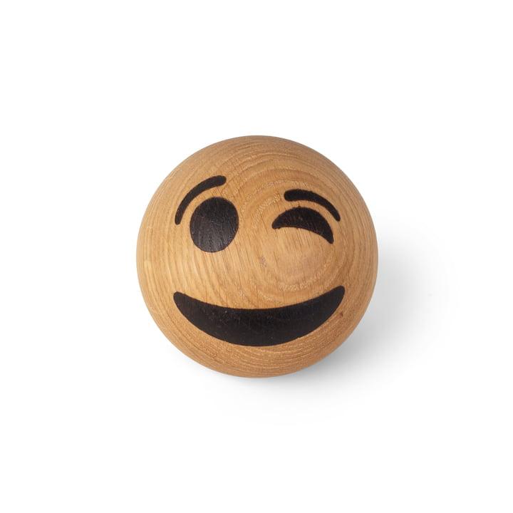 Spring Emotions Holz Emoticon von Spring Copenhagen in der Variante zwinkerndes Gesicht