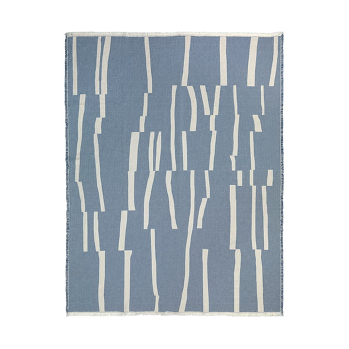 Lyme Grass Decke 130 x 180 cm von Elvang in blau