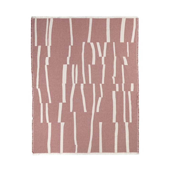 Lyme Grass Decke 130 x 180 cm von Elvang in rustyrot