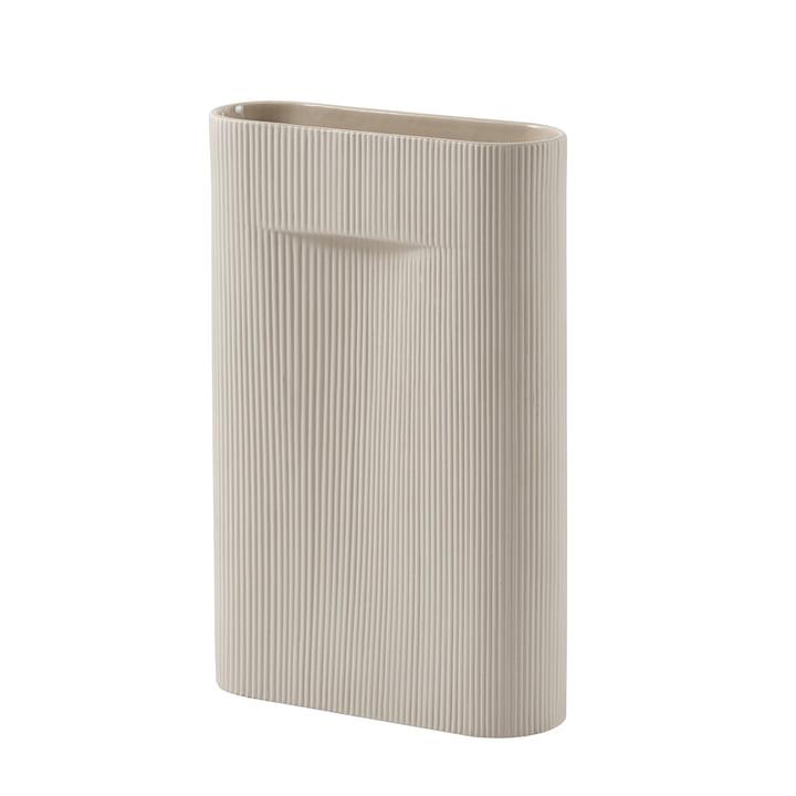 Ridge Vase H 48,5 cm von Muuto in beige