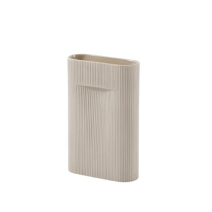 Ridge Vase H 35 cm von Muuto in beige