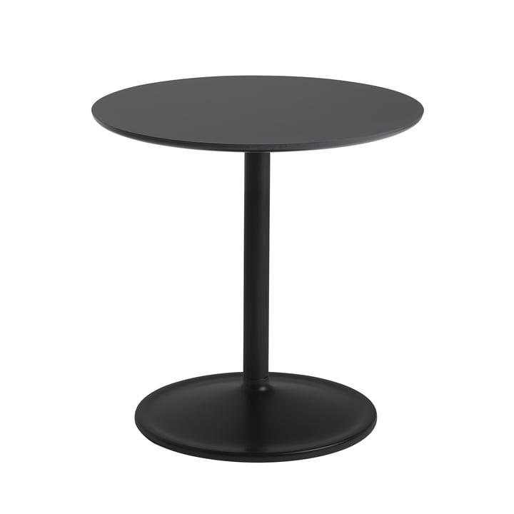 Soft Beistelltisch Ø 48 cm, H 48 cm von Muuto in schwarz