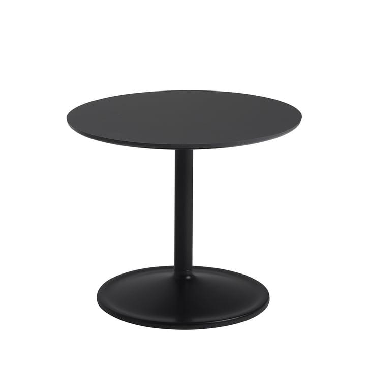 Soft Beistelltisch Ø 48 cm, H 40 cm von Muuto in schwarz