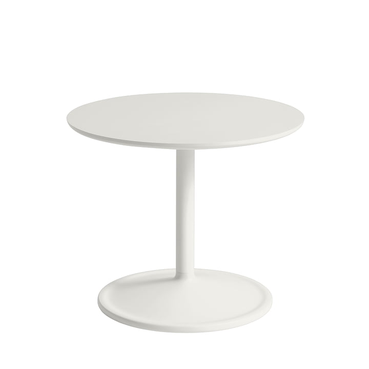 Soft Beistelltisch Ø 48 cm, H 40 cm von Muuto in off-white
