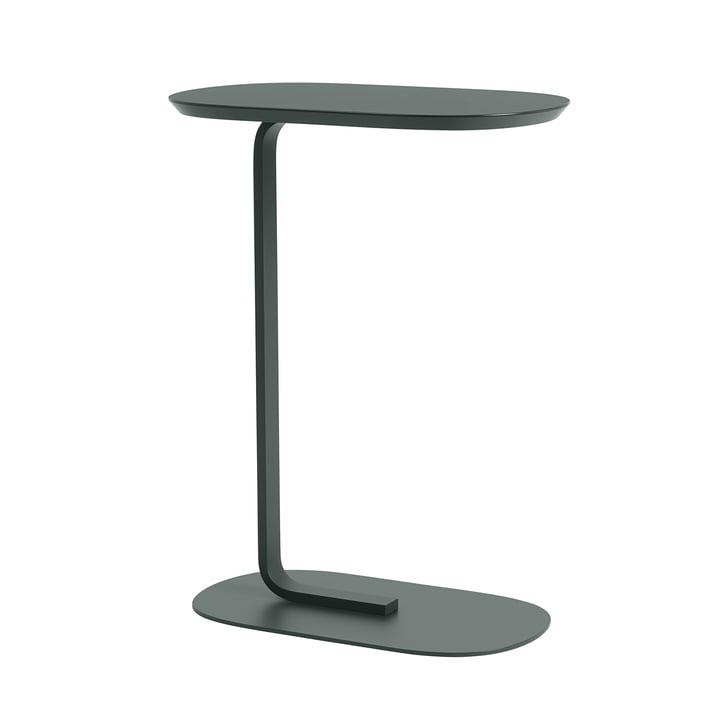 Relate Side Table H 73,5 cm von Muuto in dunkelgrün