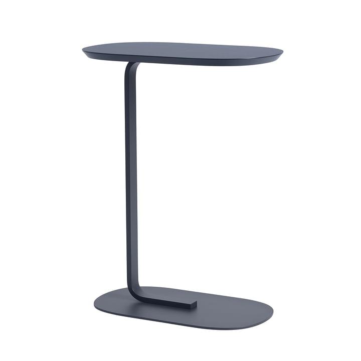 Relate Side Table H 73,5 cm von Muuto in blau-grau