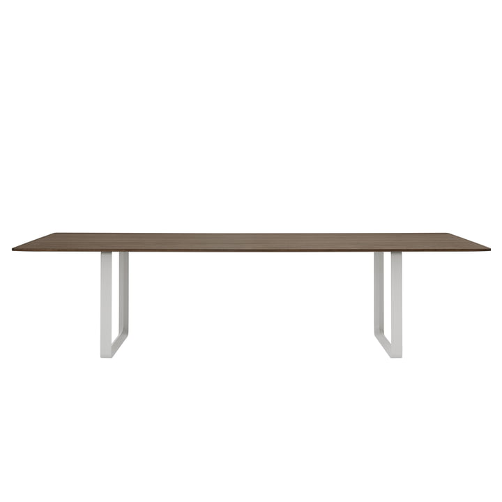 70/70 Esstisch 295 x 108 cm von Muuto in Eiche geräuchert / grau