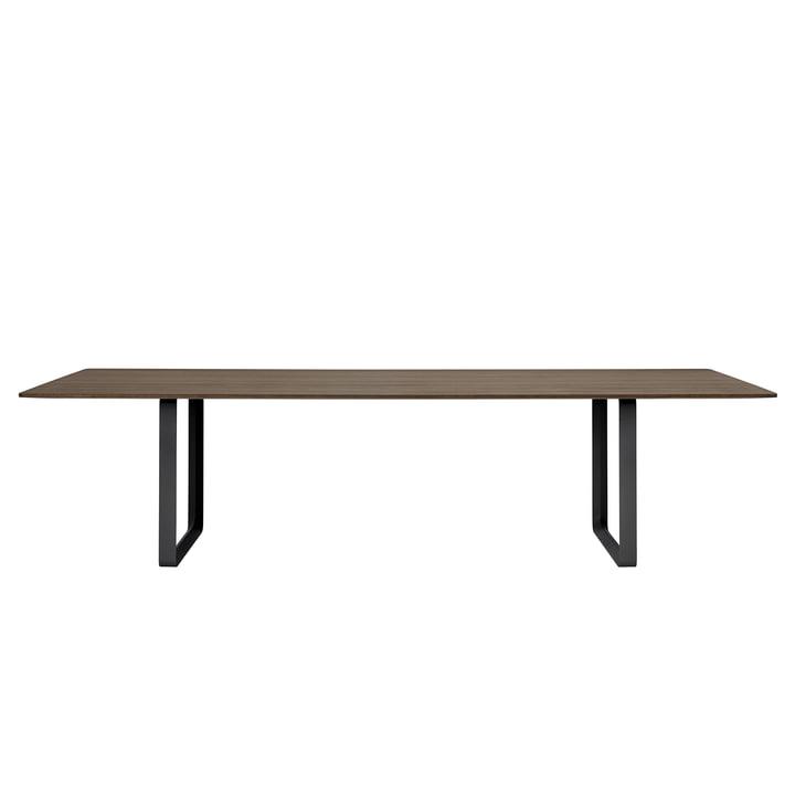 70/70 Esstisch 295 x 108 cm von Muuto in Eiche geräuchert / schwarz