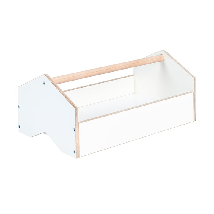kiste Aufbewahrungsbox von Tojo in weiß / Buche