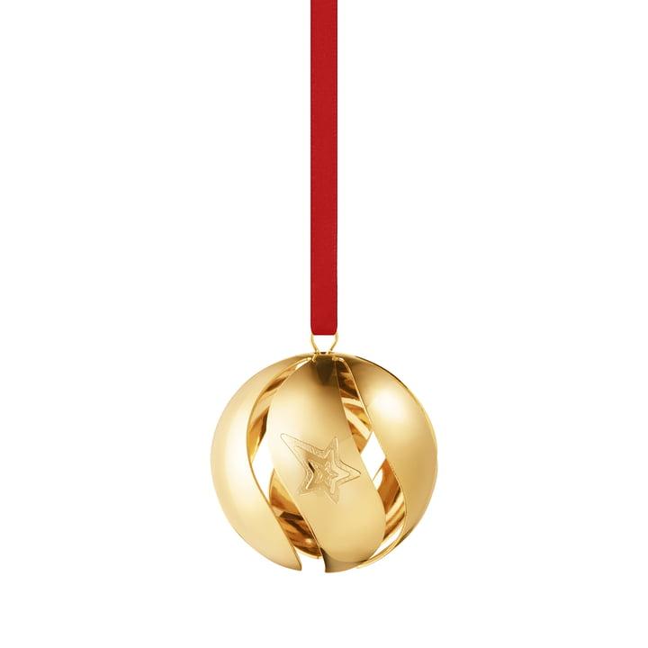 Die Weihnachtskugel 2021 von Georg Jensen, gold