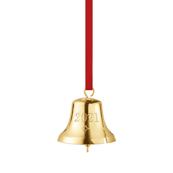 Die Weihnachtsglocke 2021 von Georg Jensen, gold