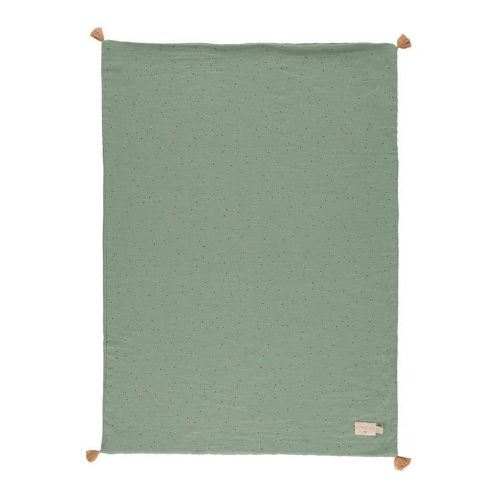 Der Treasure Leichte Decke von Nobodinoz, 70 x 100 cm, toffee sweet dots / eden green