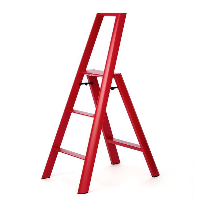 Die Lucano 3 Step Hockerleiter von Metaphys, rot