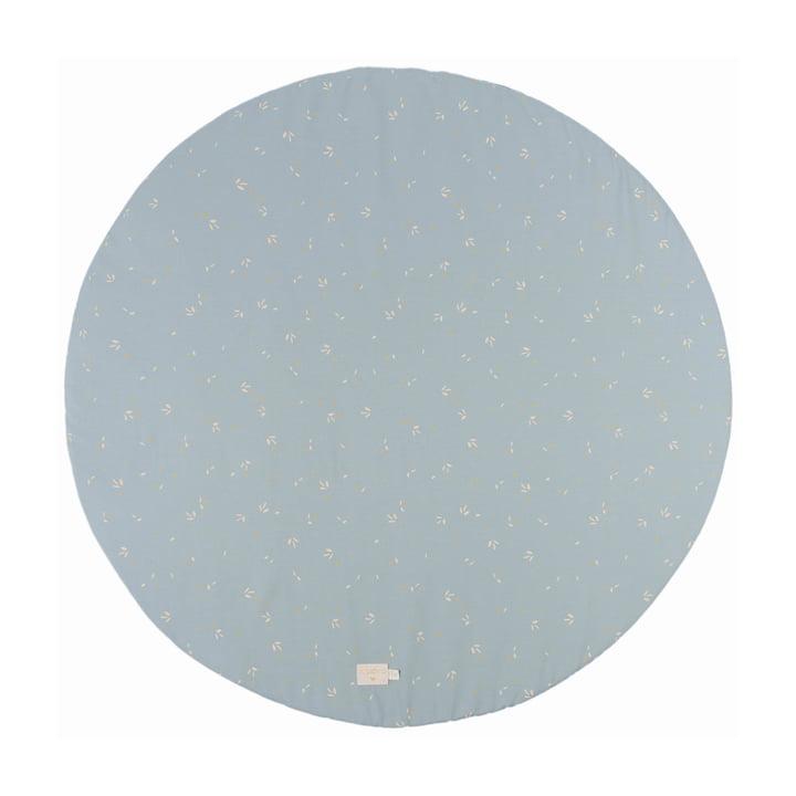 Full Moon Spielmatte Ø 105 cm von Nobodinoz in willow soft blue