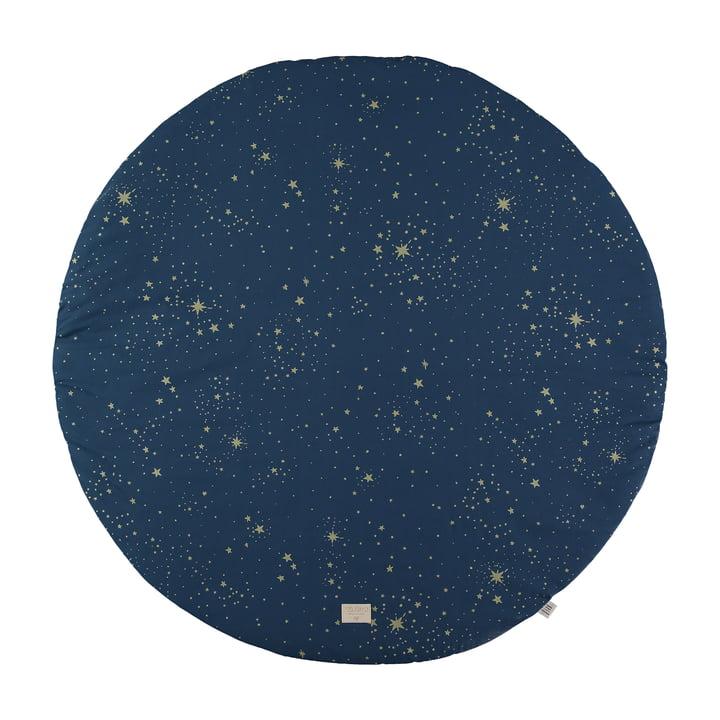 Full Moon Spielmatte Ø 105 cm von Nobodinoz in gold stella / night blue