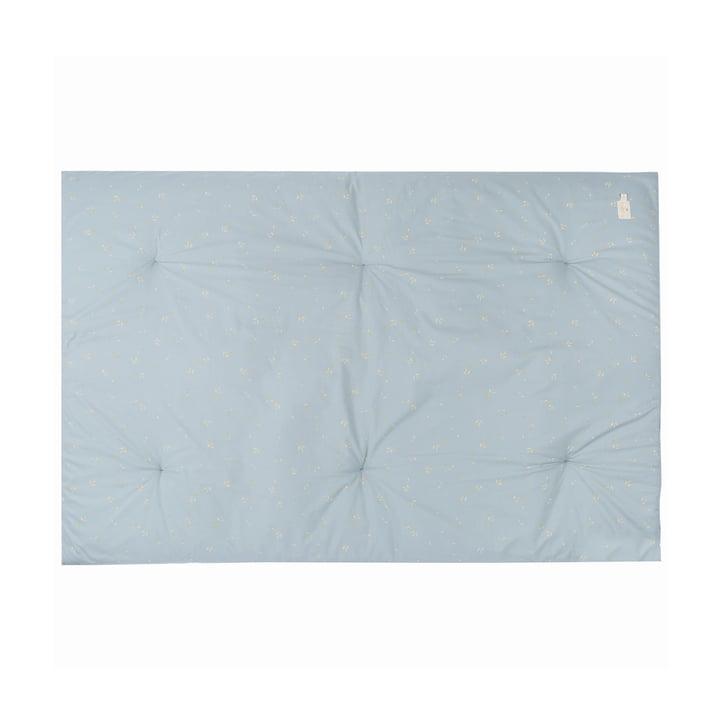 Eden Futon Spielmatte 100 x 148 cm von Nobodinoz in willow soft blue