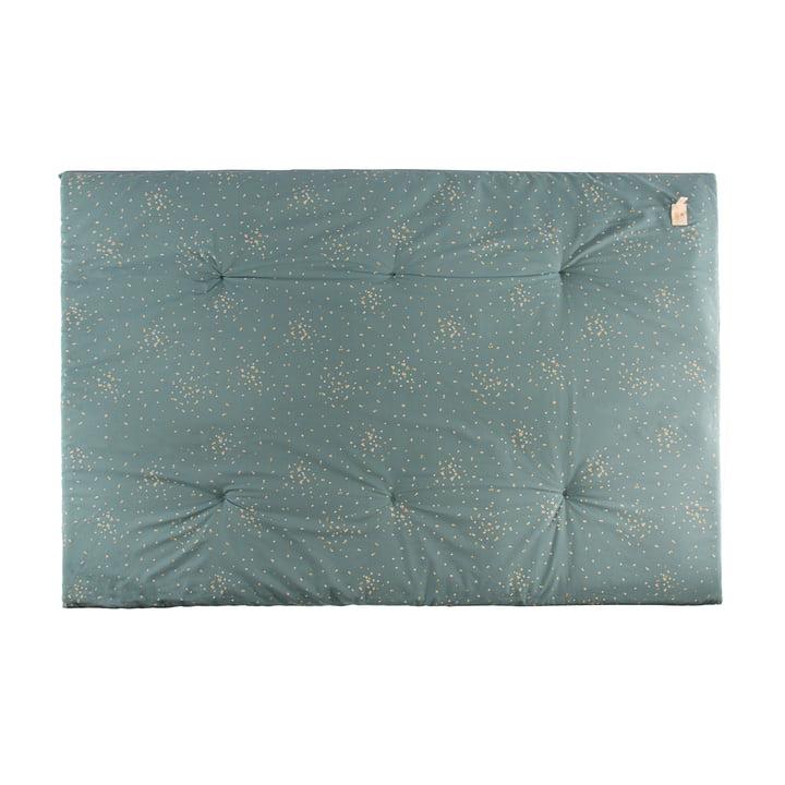 Eden Futon Spielmatte 100 x 148 cm von Nobodinoz in gold confetti / magic green