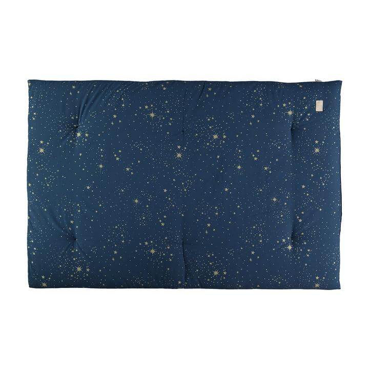 Eden Futon Spielmatte 100 x 148 cm von Nobodinoz in gold stella / night blue