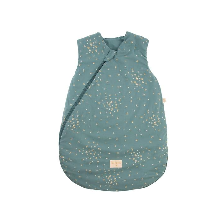 Cocoon Baby-Schlafsack 0-6 Monate von Nobodinoz in gold confetti / magic green