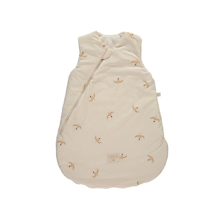 Cocoon Baby-Schlafsack 0-6 Monate von Nobodinoz in nude haiku birds natural