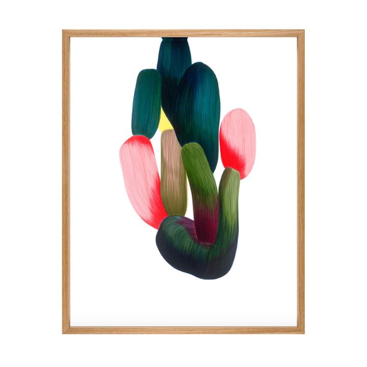 Drawing 15 Poster mit Rahmen 69,5 x 88,5 cm von The Wrong Shop in mehrfarbig