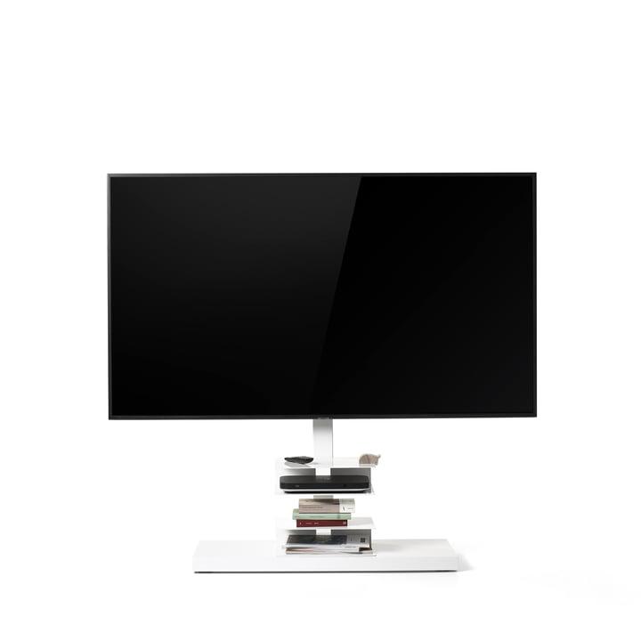 Ptolomeo TV Smart TV-Ständer von Opinion Ciatti in weiß glänzend (RAL 9003)