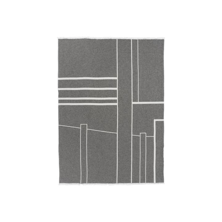 Architecture Decke 130 x 180 cm von Kristina Dam Studio in off-white / schwarz