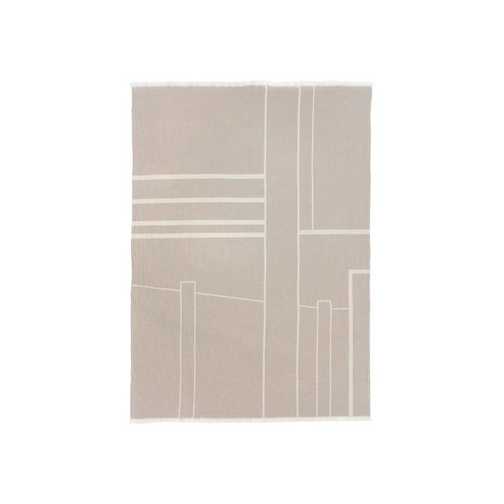 Architecture Decke 130 x 180 cm von Kristina Dam Studio in off-white / beige