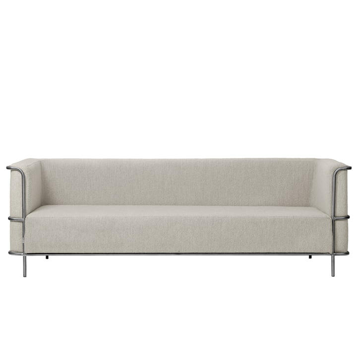 Modernist Sofa 3-Sitzer von Kristina Dam Studio in beige (Bouclé)
