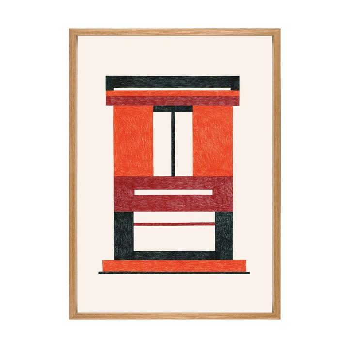 Caldo Poster mit Rahmen 49,5 x 69,5 cm von The Wrong Shop in mehrfarbig