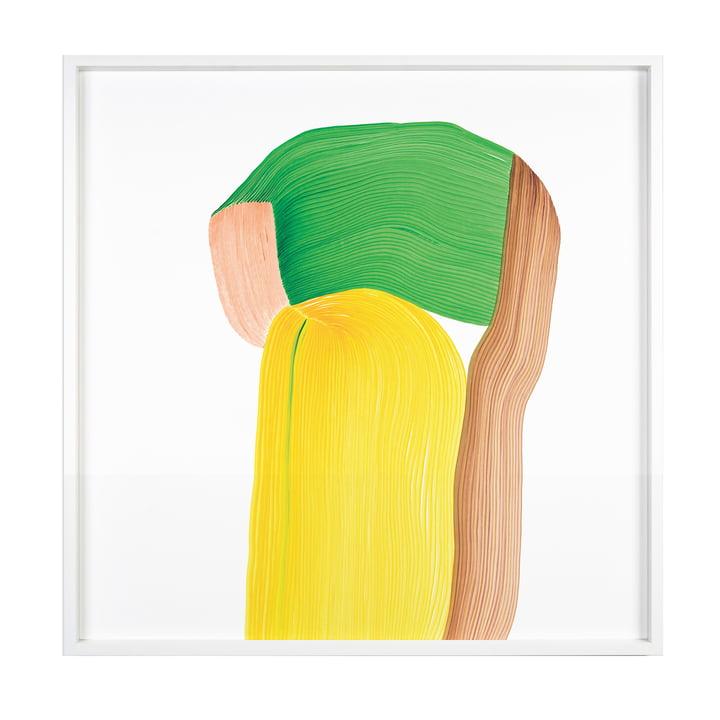 Drawing 10 Poster mit Rahmen 69,5 x 69,5 cm von The Wrong Shop in mehrfarbig