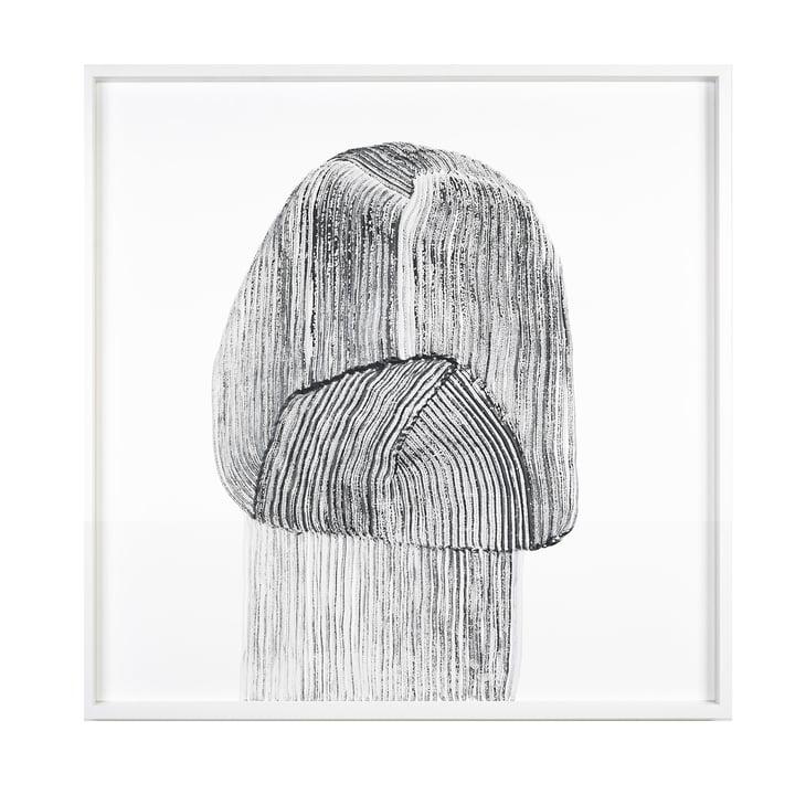 Drawing 9 Poster mit Rahmen 69,5 x 69,5 cm von The Wrong Shop in schwarz / weiß