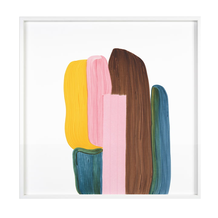 Drawing 8 Poster mit Rahmen 69,5 x 69,5 cm von The Wrong Shop in mehrfarbig