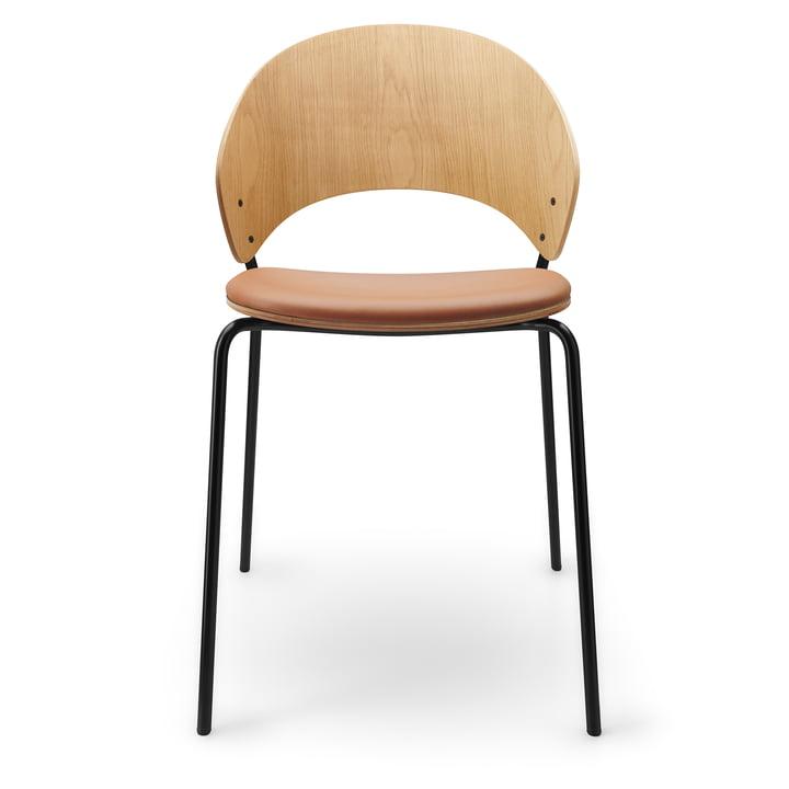 Der Dosina Stuhl mit Sitzpolster von Eva Solo, cognac / Eiche hell / schwarz