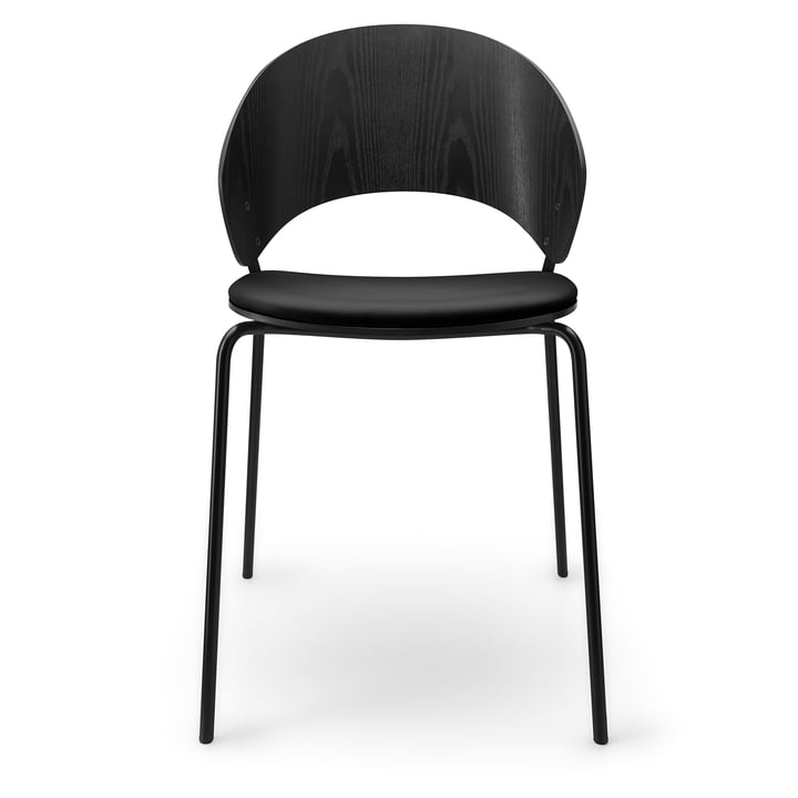 Der Dosina Stuhl mit Sitzpolster von Eva Solo, schwarz