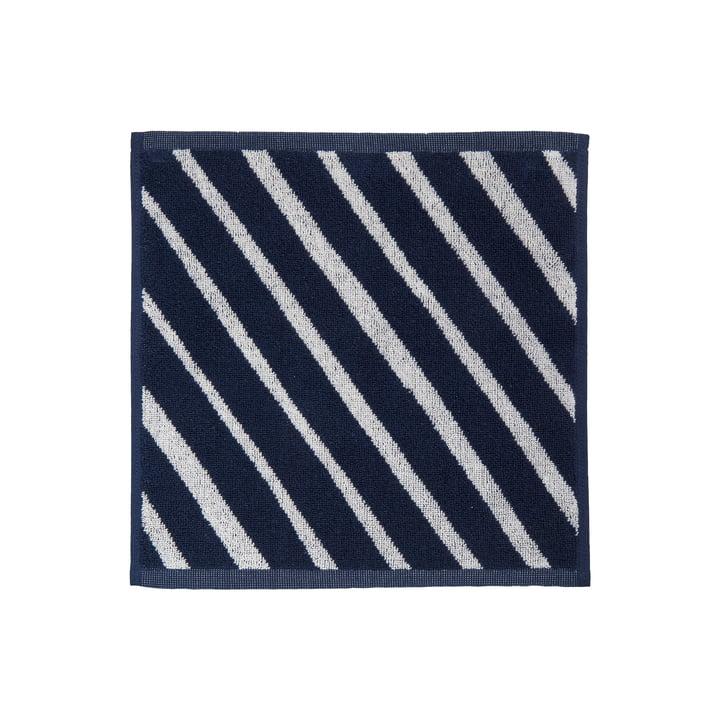 Kalasääski Mini-Handtuch von Marimekko in den Farben dunkelblau / off-white