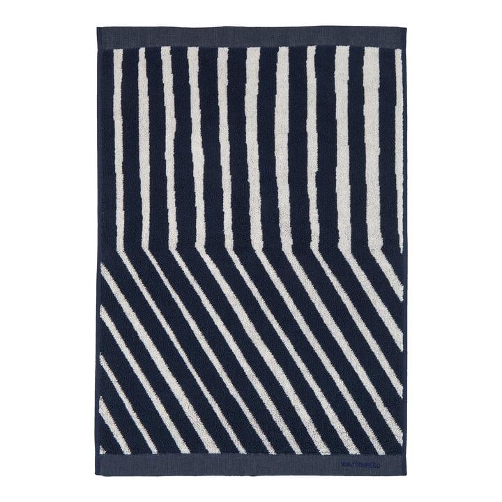 Kalasääski Handtuch von Marimekko in den Farben dunkelblau / off-white