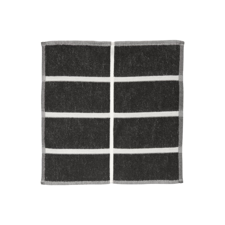 Tiiliskivi Mini-Handtuch von Marimekko in den Farben dunkelgrau / cinnamon / powder