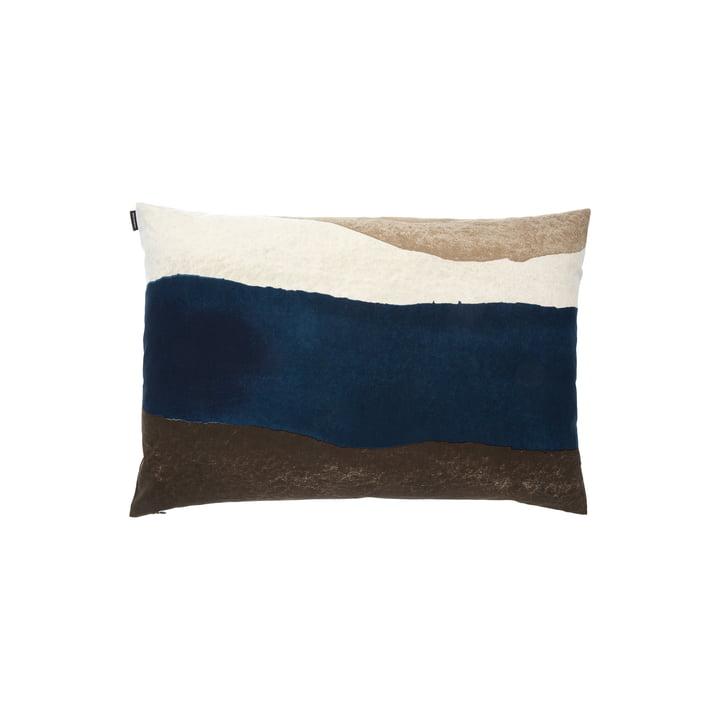 Joiku Kissenbezug von Marimekko in den Farben braun / dunkelblau / beige