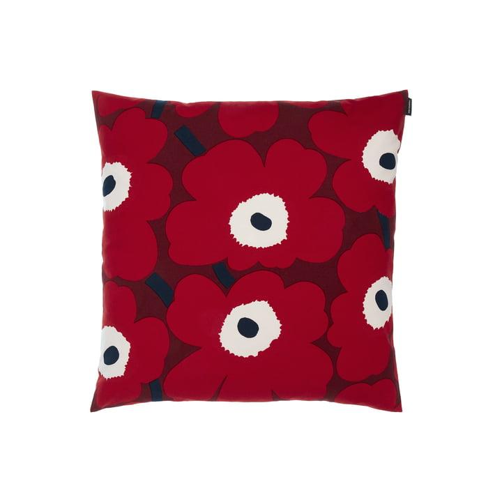Pieni Unikko Kissenbezug von Marimekko in der Ausführung dunkelrot / rot / dunkelblau